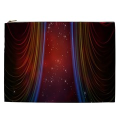 Bright Background With Stars And Air Curtains Cosmetic Bag (XXL)
