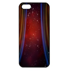 Bright Background With Stars And Air Curtains Apple iPhone 5 Seamless Case (Black)
