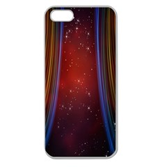 Bright Background With Stars And Air Curtains Apple Seamless Iphone 5 Case (clear)