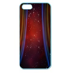 Bright Background With Stars And Air Curtains Apple Seamless Iphone 5 Case (color)