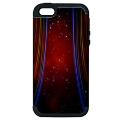 Bright Background With Stars And Air Curtains Apple Iphone 5 Hardshell Case (pc+silicone)