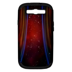 Bright Background With Stars And Air Curtains Samsung Galaxy S Iii Hardshell Case (pc+silicone)