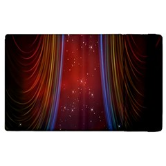 Bright Background With Stars And Air Curtains Apple iPad 2 Flip Case