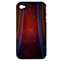 Bright Background With Stars And Air Curtains Apple iPhone 4/4S Hardshell Case (PC+Silicone)