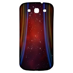 Bright Background With Stars And Air Curtains Samsung Galaxy S3 S III Classic Hardshell Back Case