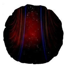 Bright Background With Stars And Air Curtains Large 18  Premium Round Cushions