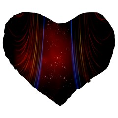 Bright Background With Stars And Air Curtains Large 19  Premium Heart Shape Cushions