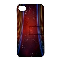 Bright Background With Stars And Air Curtains Apple Iphone 4/4s Hardshell Case With Stand