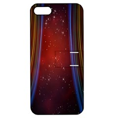 Bright Background With Stars And Air Curtains Apple iPhone 5 Hardshell Case with Stand