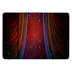 Bright Background With Stars And Air Curtains Samsung Galaxy Tab 8.9  P7300 Flip Case