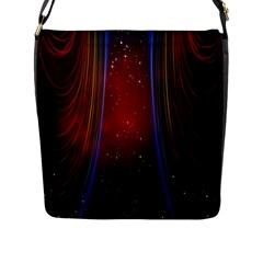 Bright Background With Stars And Air Curtains Flap Messenger Bag (l)