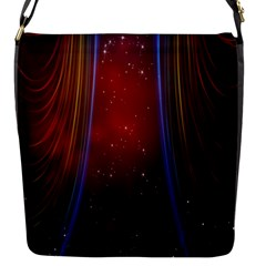 Bright Background With Stars And Air Curtains Flap Messenger Bag (s)