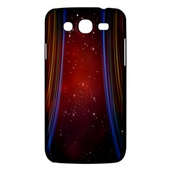 Bright Background With Stars And Air Curtains Samsung Galaxy Mega 5.8 I9152 Hardshell Case