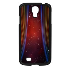 Bright Background With Stars And Air Curtains Samsung Galaxy S4 I9500/ I9505 Case (Black)