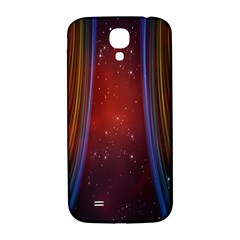 Bright Background With Stars And Air Curtains Samsung Galaxy S4 I9500/I9505  Hardshell Back Case