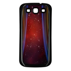 Bright Background With Stars And Air Curtains Samsung Galaxy S3 Back Case (black)