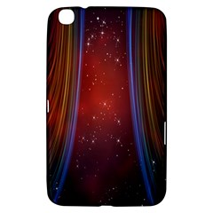 Bright Background With Stars And Air Curtains Samsung Galaxy Tab 3 (8 ) T3100 Hardshell Case