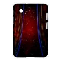 Bright Background With Stars And Air Curtains Samsung Galaxy Tab 2 (7 ) P3100 Hardshell Case
