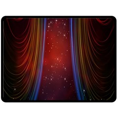 Bright Background With Stars And Air Curtains Double Sided Fleece Blanket (Large)