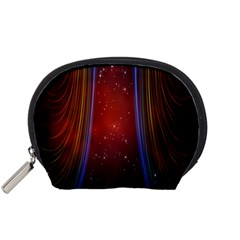 Bright Background With Stars And Air Curtains Accessory Pouches (small)