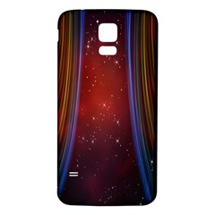 Bright Background With Stars And Air Curtains Samsung Galaxy S5 Back Case (White)