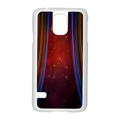 Bright Background With Stars And Air Curtains Samsung Galaxy S5 Case (white)