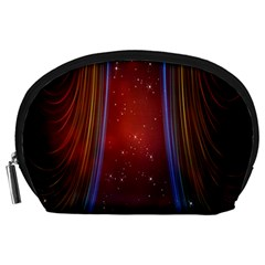 Bright Background With Stars And Air Curtains Accessory Pouches (Large)