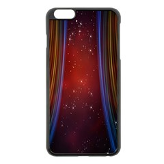 Bright Background With Stars And Air Curtains Apple Iphone 6 Plus/6s Plus Black Enamel Case