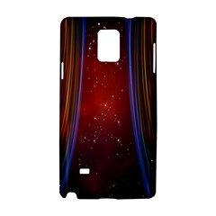 Bright Background With Stars And Air Curtains Samsung Galaxy Note 4 Hardshell Case