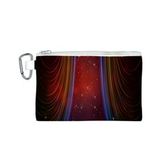 Bright Background With Stars And Air Curtains Canvas Cosmetic Bag (s)