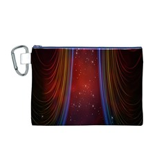 Bright Background With Stars And Air Curtains Canvas Cosmetic Bag (M)