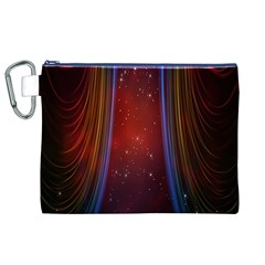 Bright Background With Stars And Air Curtains Canvas Cosmetic Bag (XL)