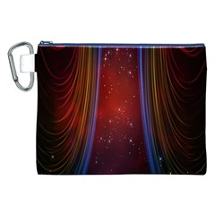 Bright Background With Stars And Air Curtains Canvas Cosmetic Bag (xxl)