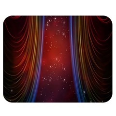Bright Background With Stars And Air Curtains Double Sided Flano Blanket (Medium)