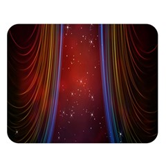 Bright Background With Stars And Air Curtains Double Sided Flano Blanket (Large)