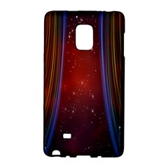 Bright Background With Stars And Air Curtains Galaxy Note Edge