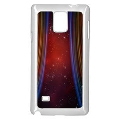Bright Background With Stars And Air Curtains Samsung Galaxy Note 4 Case (White)