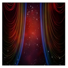 Bright Background With Stars And Air Curtains Large Satin Scarf (square)