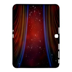 Bright Background With Stars And Air Curtains Samsung Galaxy Tab 4 (10.1 ) Hardshell Case