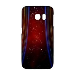 Bright Background With Stars And Air Curtains Galaxy S6 Edge