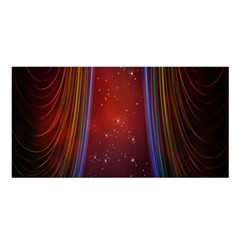 Bright Background With Stars And Air Curtains Satin Shawl