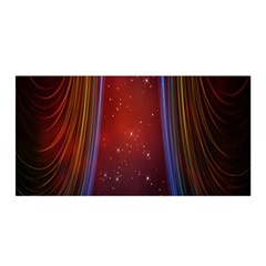 Bright Background With Stars And Air Curtains Satin Wrap