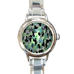 Wallpaper Background With Lighted Pattern Round Italian Charm Watch
