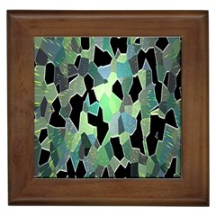 Wallpaper Background With Lighted Pattern Framed Tiles