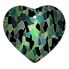 Wallpaper Background With Lighted Pattern Ornament (Heart)