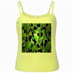 Wallpaper Background With Lighted Pattern Yellow Spaghetti Tank