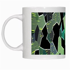 Wallpaper Background With Lighted Pattern White Mugs