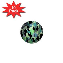 Wallpaper Background With Lighted Pattern 1  Mini Magnet (10 pack)