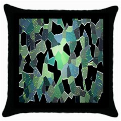 Wallpaper Background With Lighted Pattern Throw Pillow Case (Black)