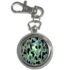 Wallpaper Background With Lighted Pattern Key Chain Watches